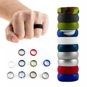 10pcs/Set Men Women Hypoallergenic Silicone Rings